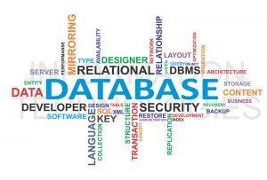 word cloud de plusieurs mots lié aux bases de données